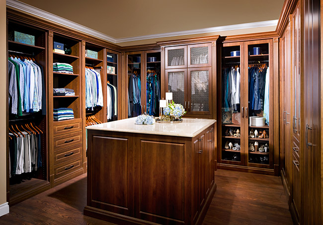 walk-in closet design ideas, custom cabinetry