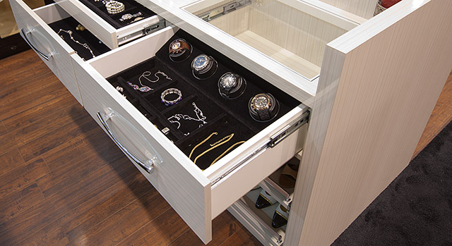 watch winder and storage drawer
