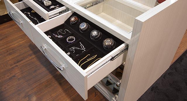 watch winder and storage drawer