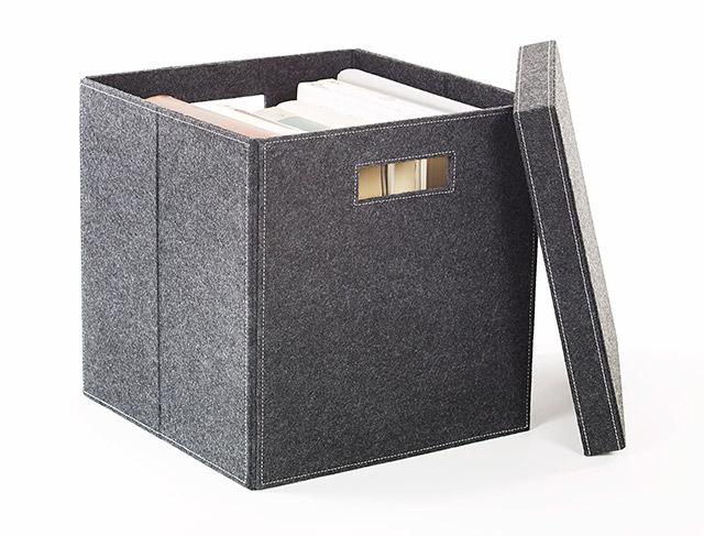 felt storage box with lid. Black Bedroom Furniture Sets. Home Design Ideas