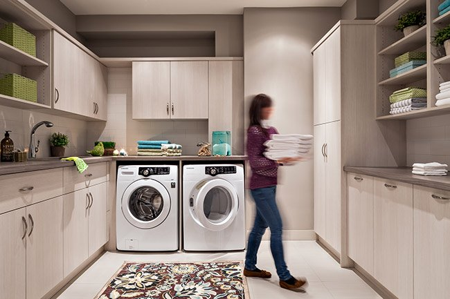 well designed laundry room