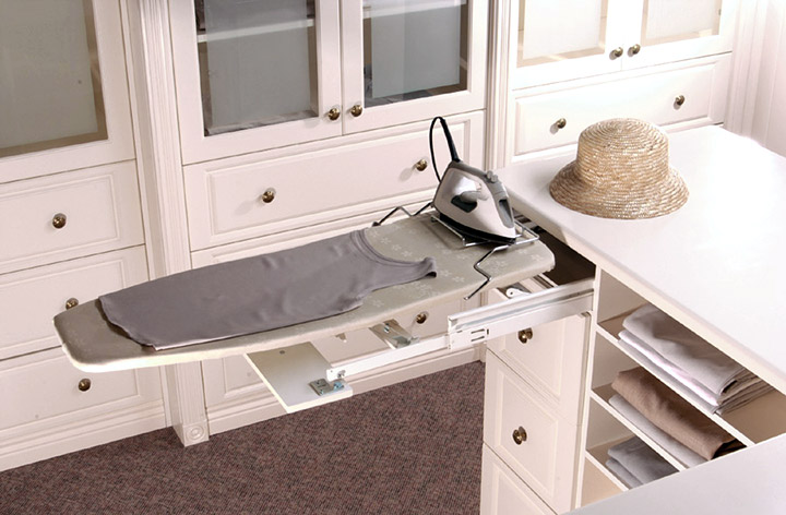 closet redesign ironing board