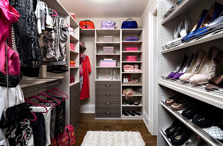 Classic closet organizer