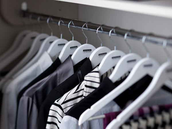 Wrinkle free dry cleaned clothes