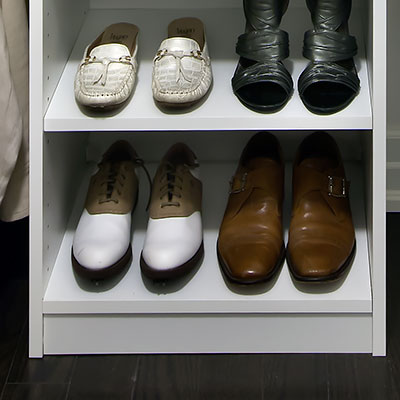 shoe storage solutions closet rack