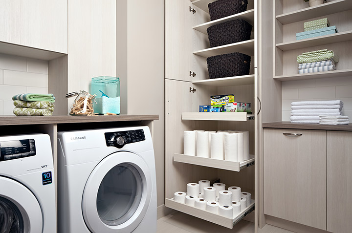 laundry room organization closet