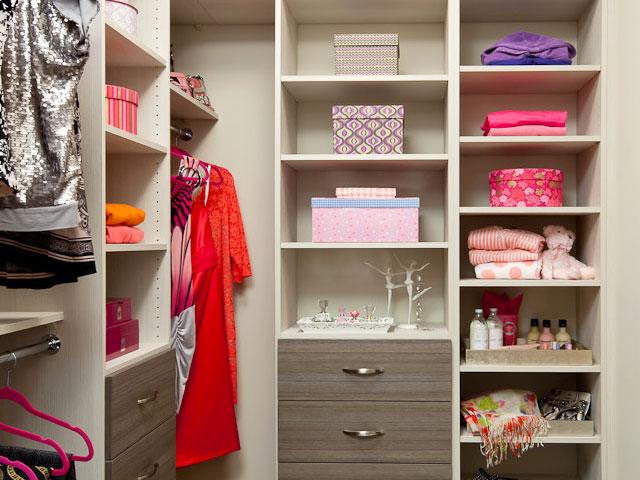 organized linen in closet