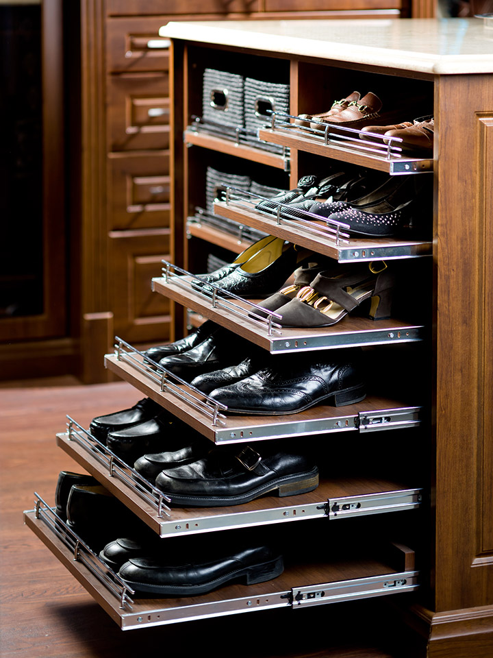 shoe storage solutions pullout
