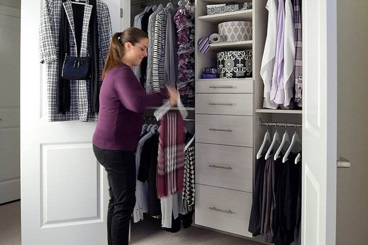 disorganized closets