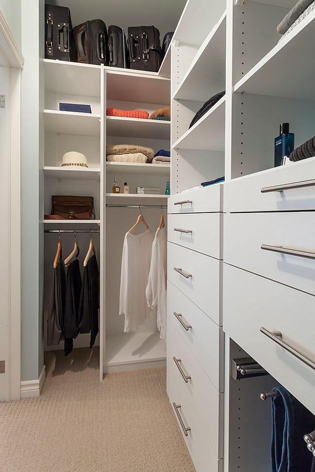 Inside master bedroom closet.