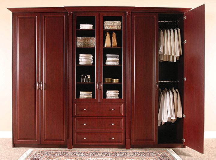 bedroom storage furniture ideas dark wood wardrobe