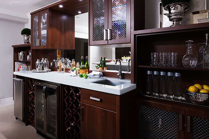 bar cabinetry home holiday tips