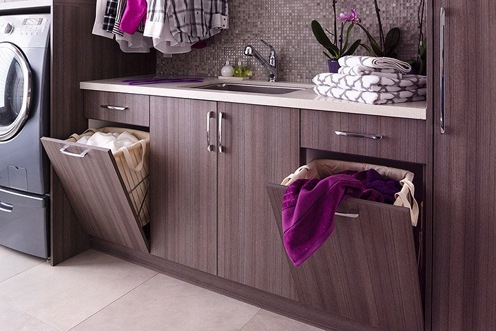 laundry room ideas hampers