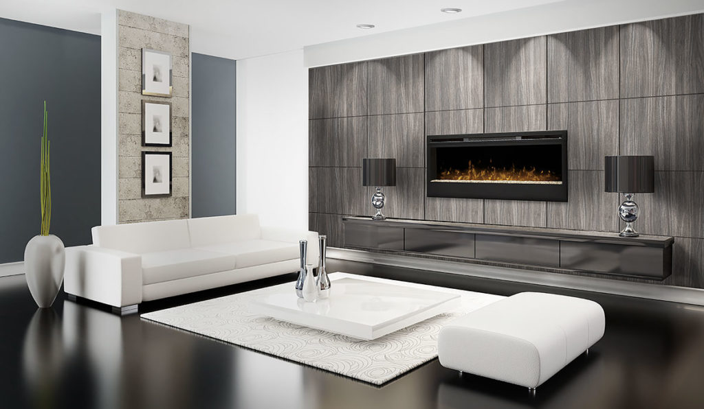 electric fireplaces feature wall