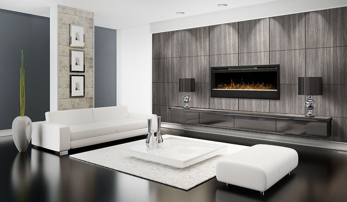 electric fireplace feature wall