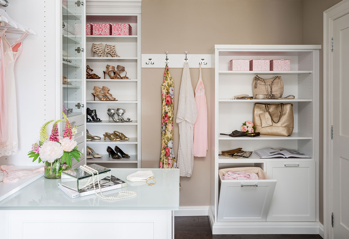 Dressing room closet redesign