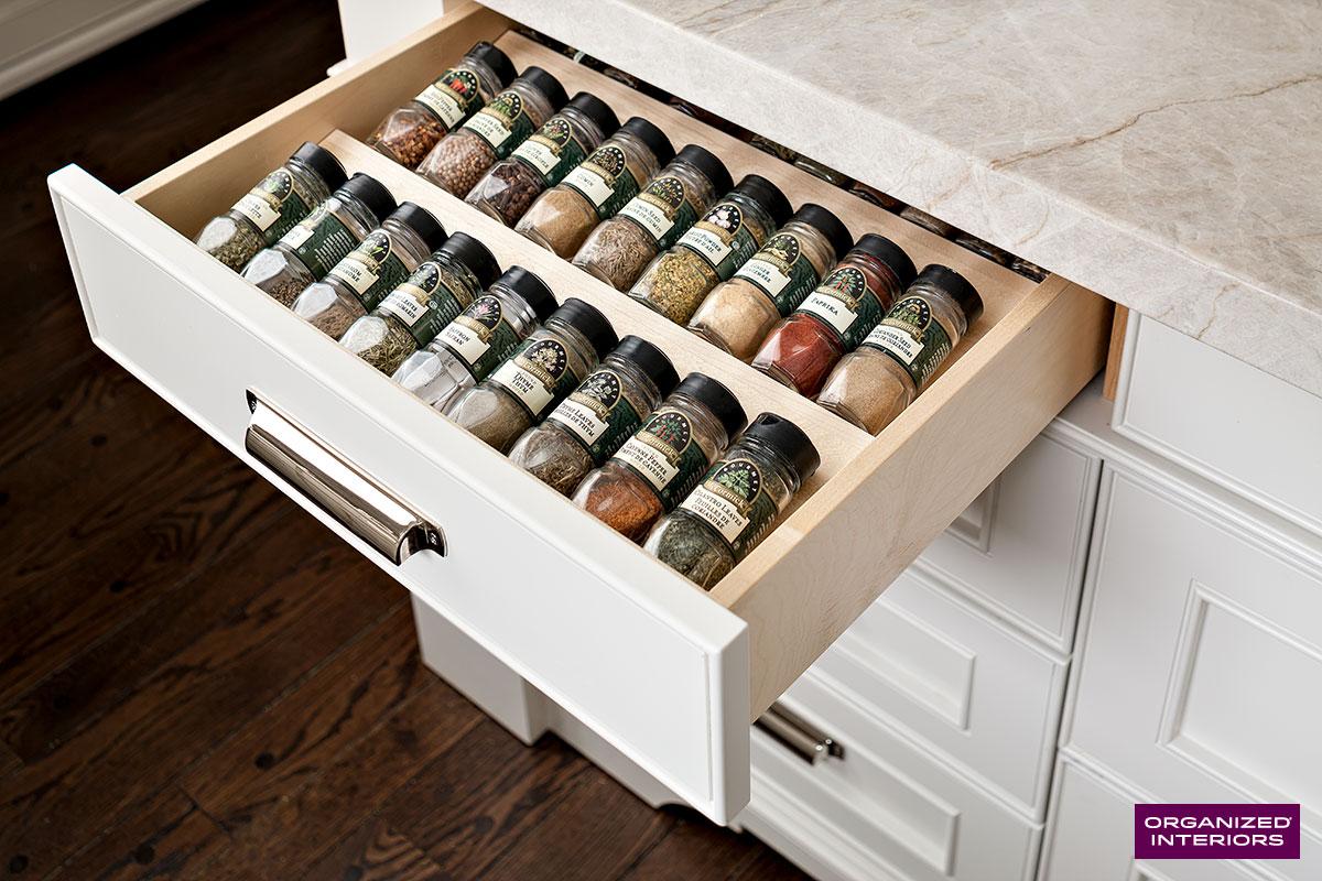 expired kitchen spices in drawer