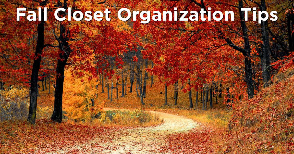 fall closet organization