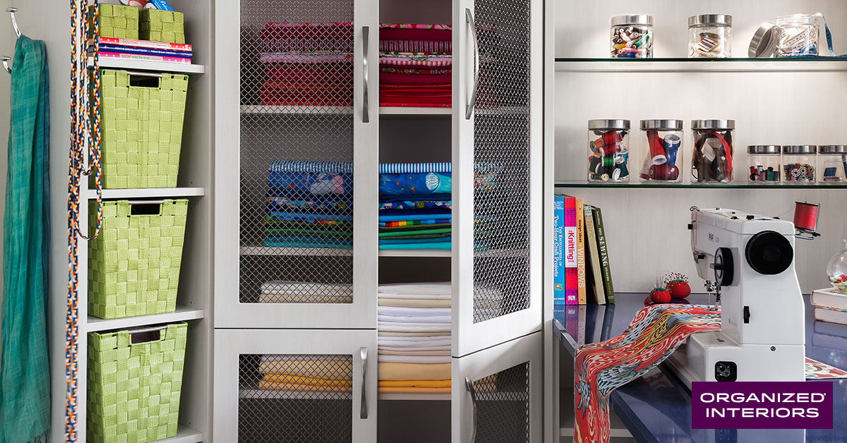 Organized hobby room.
