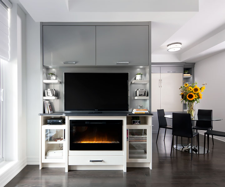 entertainment units with fireplace