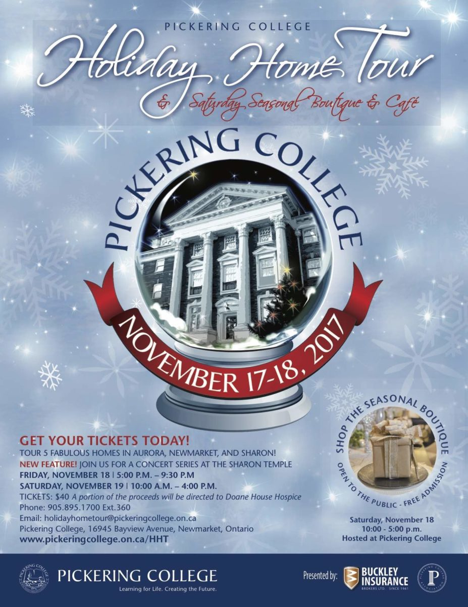 Pickering College Holiday Home Tour ad