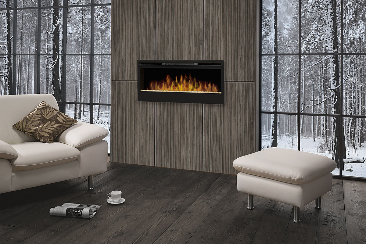 fireplace feature walls winter backdrop