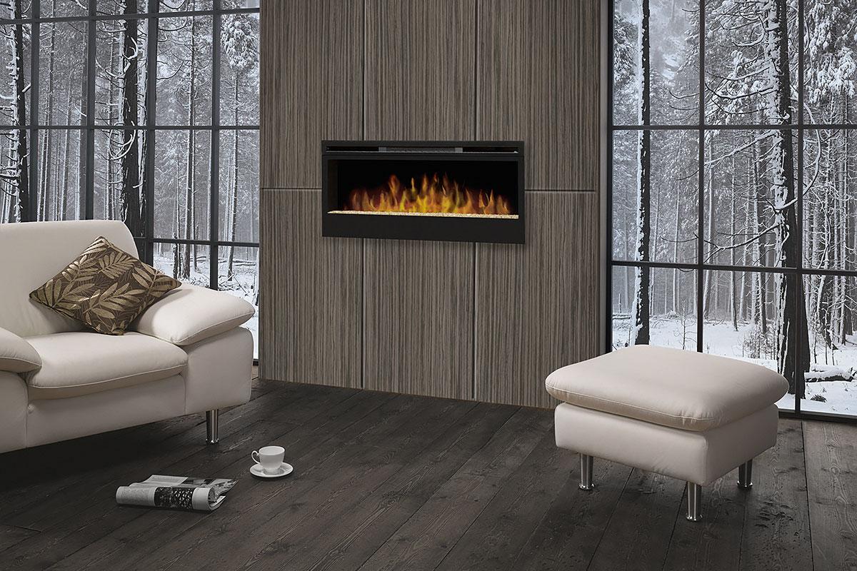 fireplace feature walls winter backdrop