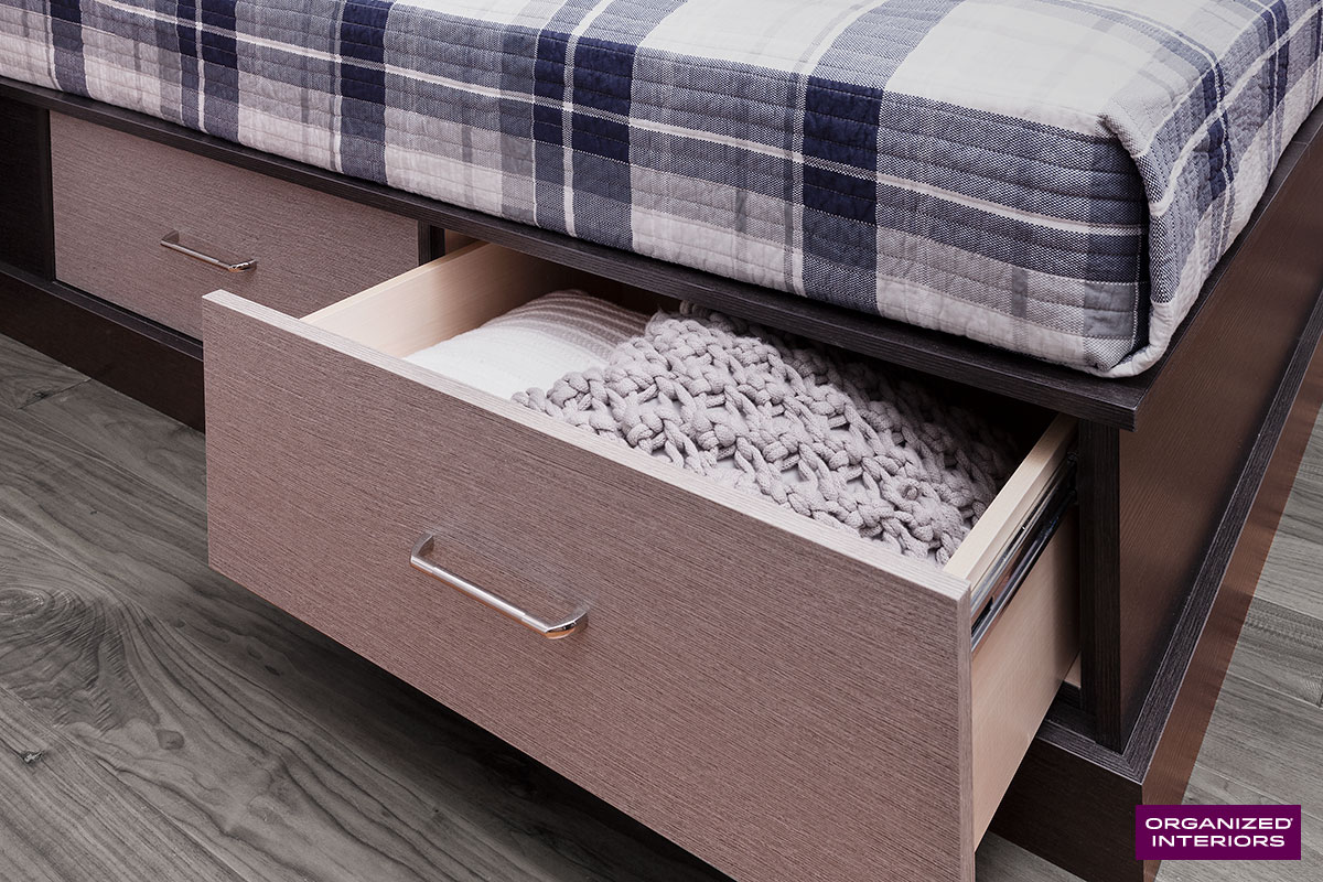 hidden home storage space bed
