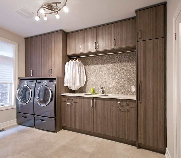 hidden home storage space laundry room