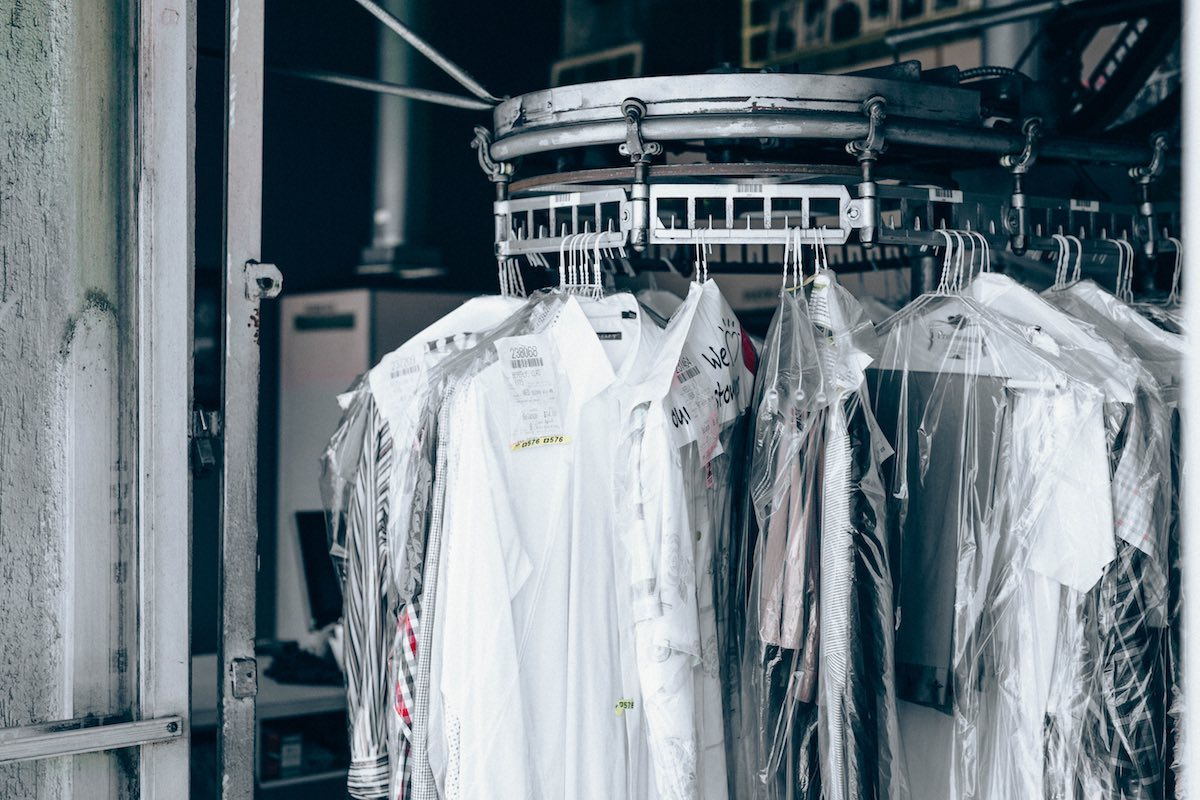 Dry cleaning rack seasonal clothes storage