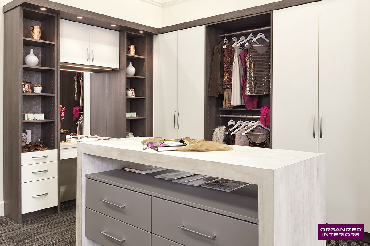 winter home renovations walk-in closet