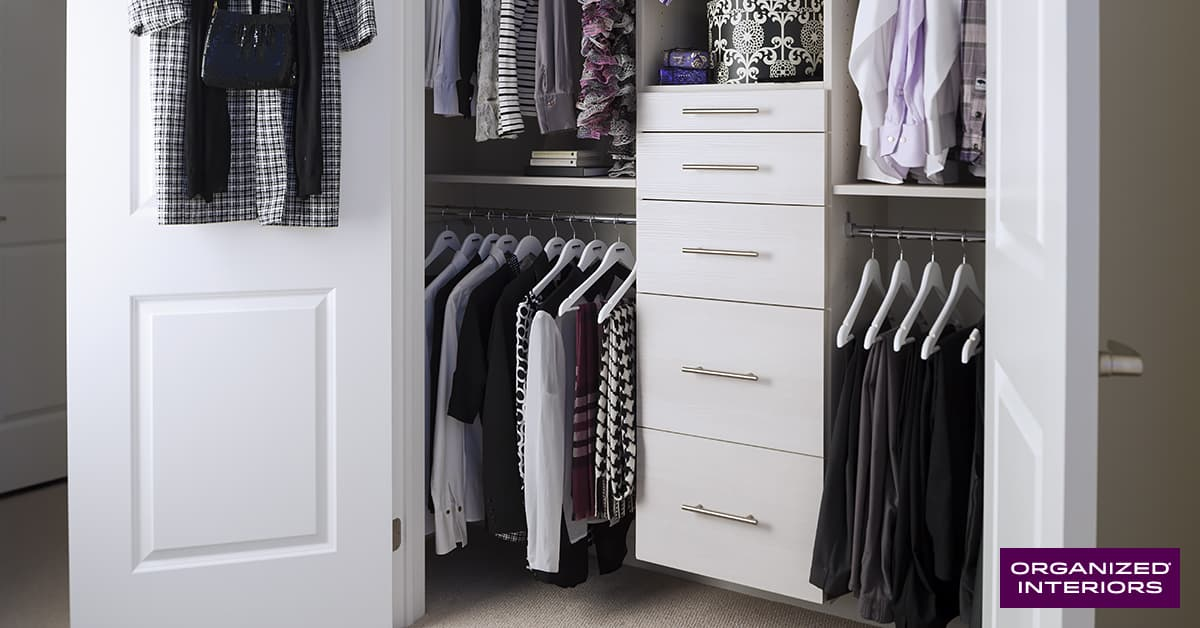 home organization projects, reach-in closet