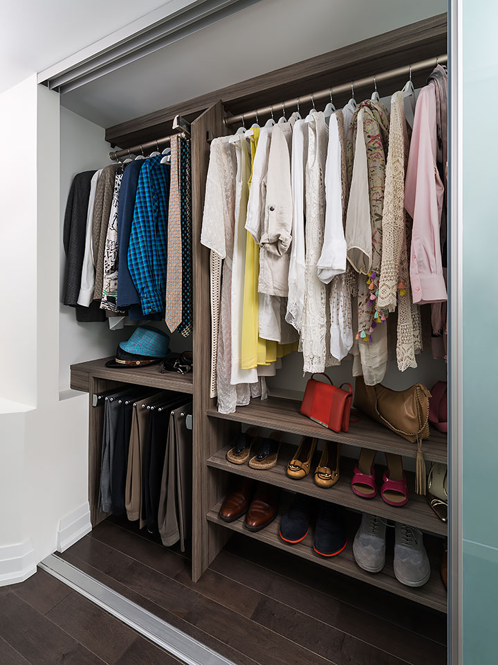 cost of clutter open closet