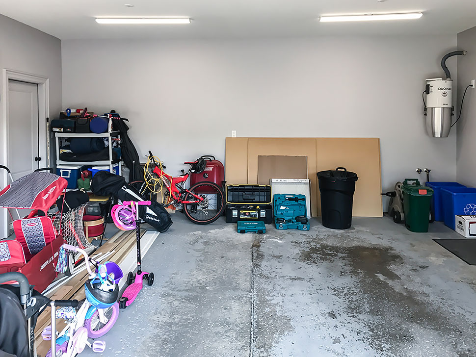 cost of clutter messy garage
