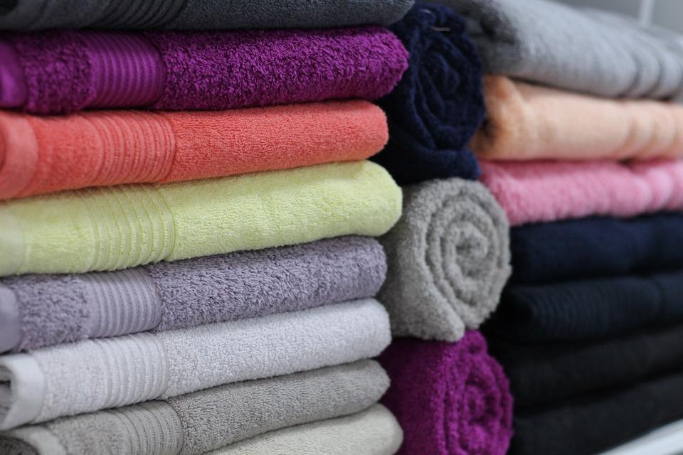 towels in linen closet