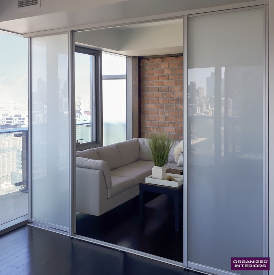 room divider with sliding closet door