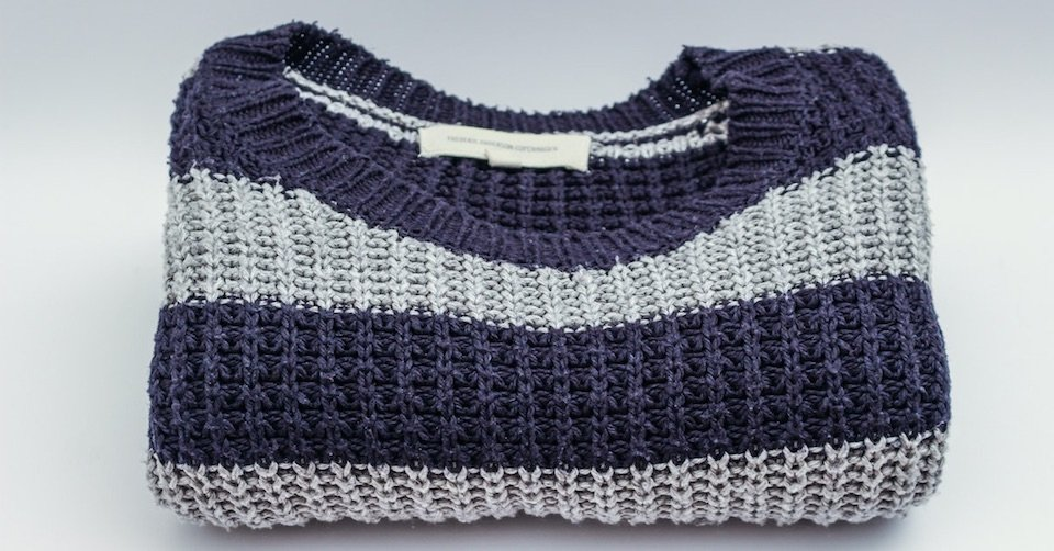 winter clothes storage folded sweater