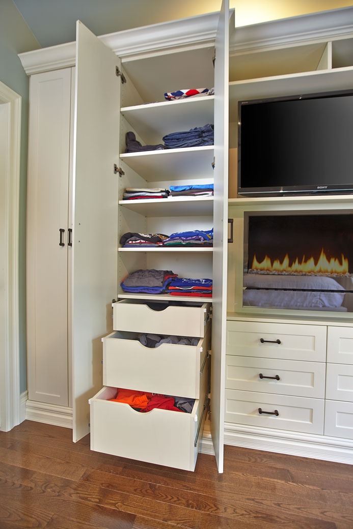 built-in wall unit wardrobe