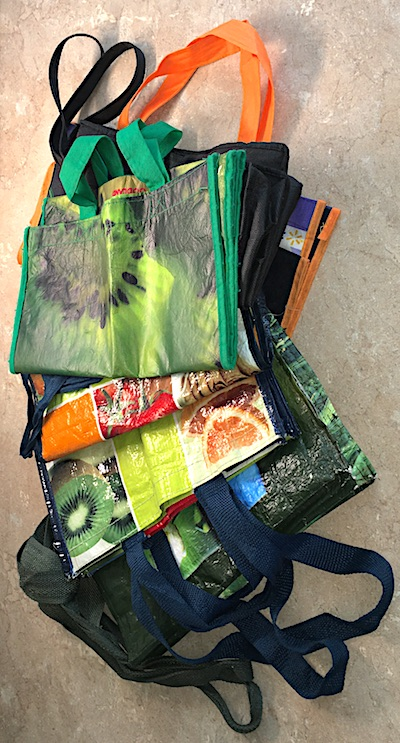 shopping tote bags end up in clutter hotspots