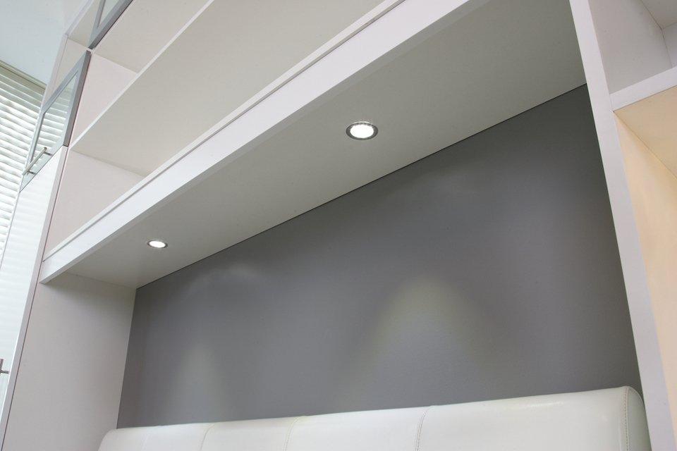 undercabinet lighting above bed