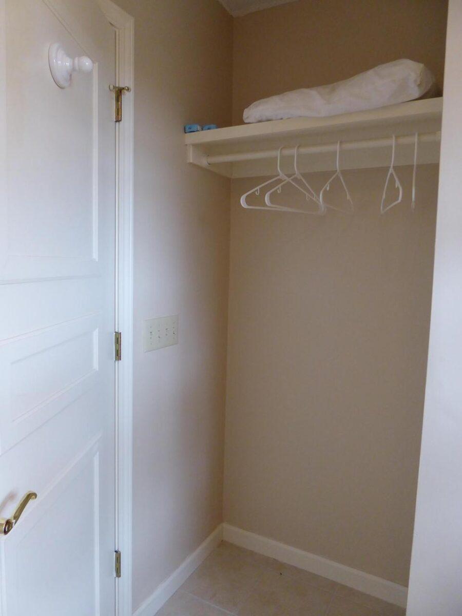 empty builder closet