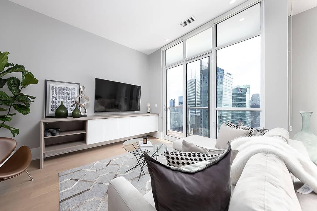 cozy area rug in condo
