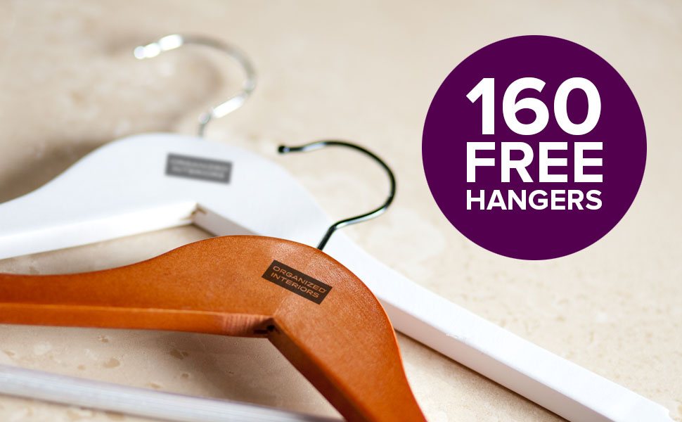 Special offer - 160 free hangers