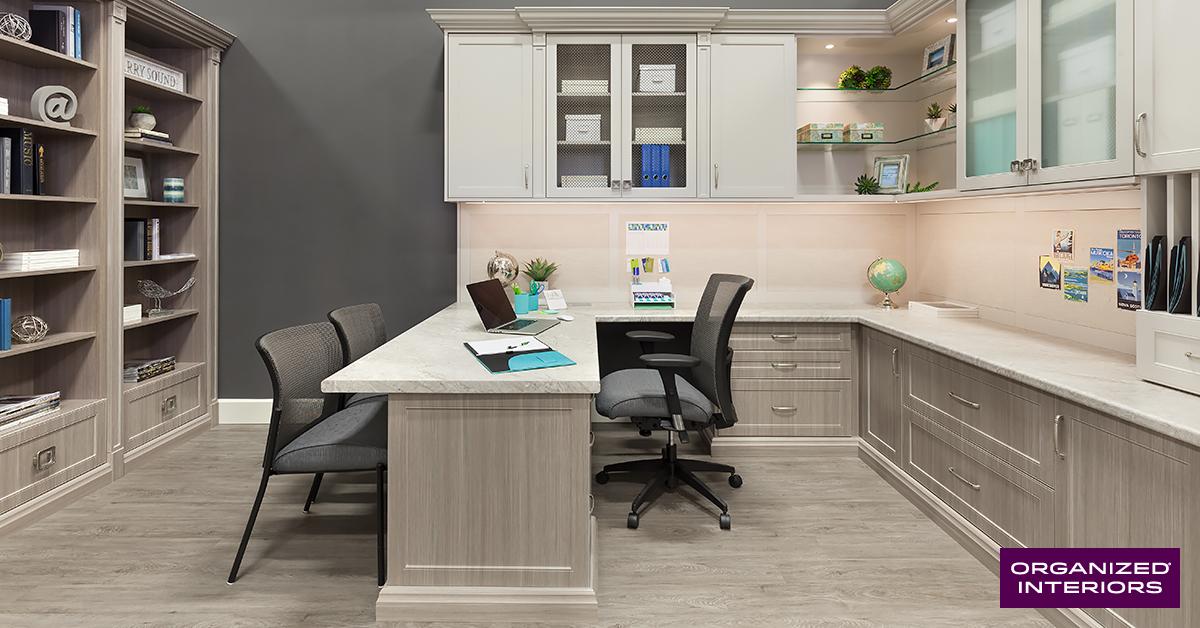 Custom Home Office Design Ideas from www.organizedinteriors.com